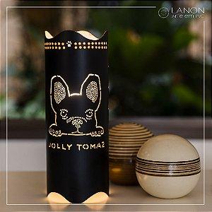 Luminária de mesa decorativa - Petts - Bull Dog Francês