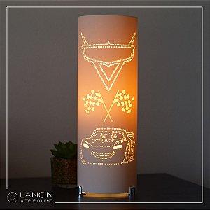 Luminária de mesa decorativa - Carros - Relâmpago McQueen