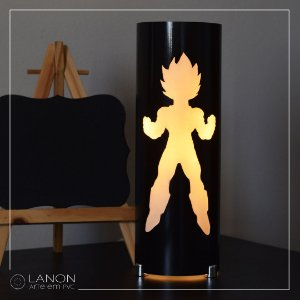 Luminária de mesa decorativa - Dragon Ball Z - Vegetta - DBZ