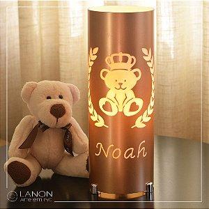 Luminária de mesa decorativa - Principe Urso com Ramos