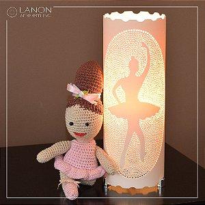 Kit Luminária de mesa - Bailarina com Amigurumi Bailarina