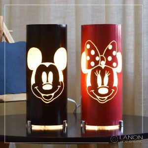 Kit Luminária de mesa - Mickey e Minnie Mouse