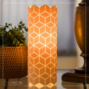 Luminária de mesa decorativa - Geométrica Cubos