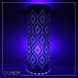 Luminária de mesa decorativa - Geométrica - Ondulada Azul