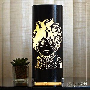 Luminária de mesa decorativa - Izuku Midoriya - Boku no Hero