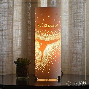 Luminária de mesa decorativa - Capoeira