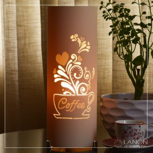 Luminária de mesa decorativa - Coffee Lover