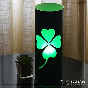 Luminária de mesa decorativa - Trevo de 4 Folhas