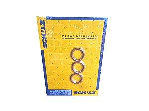 Anel O-Ring De Borracha Vulcanizada 3 Peças Schulz - 023.0321-0 AT
