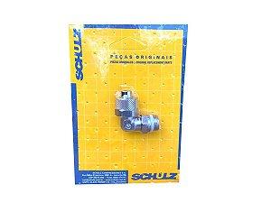 """Cotovelo em Latão 1/4"""" x 10mm Schulz - 003.0827-0/AT"""