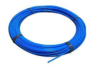 Mangueira Flexível de Nylon Tubo de 6mm Azul - 100 Metros
