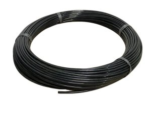 Mangueira Flexível de PU (Poliuretano) Tubo de 6mm Preta - 100 Metros