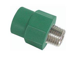 Adaptador Ppr Para Rede De Água Quente e Fria 25 Mm X 1/2 Polegada - Topfusion