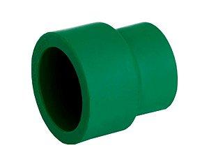 Luva De Redução Ppr Topfusion Para Rede De Água Quente e Fria 63 X 50 Mm