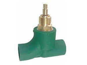Base Registro 1/4 De Volta Ppr (Docol)  Água Quente e Fria 25 Mm - Topfusion