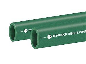 Tubo Ppr Para Rede De Água Fria 50 Mm Barra 3 Metros - Topfusion