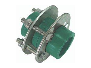 União Com Flange Ppr Rede De Água Quente e Fria 63mm - Topfusion