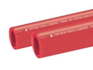 Tubo Ppr Para Rede de Incêndio 90 Mm Barra 6 Metros - Topfusion