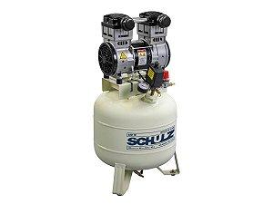 Compressor De Ar Odontológico Schulz - Csd 10/40 Isento De Óleo - 10 Pés 40 Litros 120 Libras