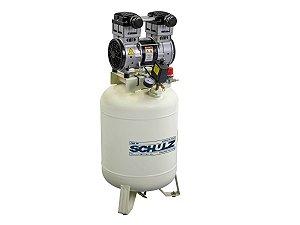 Compressor De Ar Odontológico Schulz - Csd 10/60 Isento De Óleo - 10 Pés 60 Litros 120 Libras