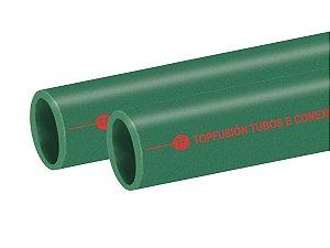 Tubo Ppr Para Rede De Calefação 75 Mm Barra 3 Metros - Topfusion