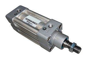 Cilindro Pneumático de Dupla Ação Com Amortecimento Diâmetro 80mm Cursor 100mm – Werk Schott