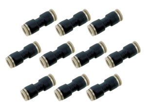 Kit Com 10 Conexões Engate Rápido Pneumática União Reta Mangueira 12mm – Werk Shott