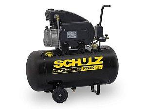 Motocompressor  De Ar Pratic Air  CSI 8,5/50 8,5 Pés 2HP 50 Litros C/Rodas 110v - Schulz
