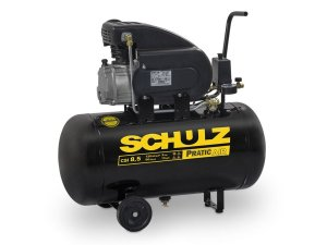 Motocompressor De Ar Pratic Air CSI 8,5/50 8,5 Pés 2HP 50 Litros C/Rodas 220v - Schulz