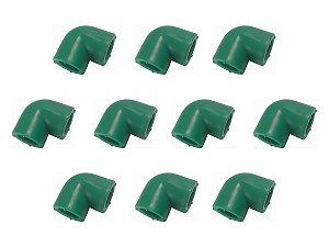 Kit Com 10 Joelhos Ppr Para Rede Água Quente e Fria 90 Graus 20 Mm Topfusion