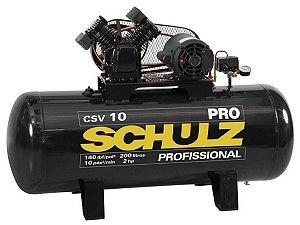 COMPRESSOR DE AR SCHULZ - CSV 10/200 PRO - 10 PES 200 LITROS 140 LIBRAS 110/220V MONO
