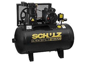 COMPRESSOR DE AR SCHULZ - CSL 10BR/100 BRAVO - 10 PES 100 LITROS 140 LIBRAS 220/380V TRIF