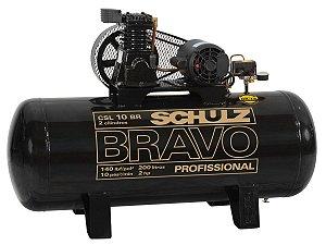 COMPRESSOR DE AR SCHULZ - CSL 10BR/200 BRAVO - 10 PES 200 LITROS 140 LIBRAS 220/380V TRIF