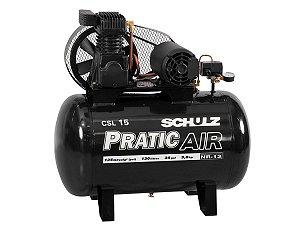 COMPRESSOR DE AR SCHULZ - CSL 15/130 PRATIC AIR - 15 PES 130 LITROS 3HP 220/380V TRIFASICO