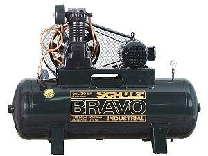 COMPRESSOR DE AR SCHULZ - CSL 30BR/250 BRAVO - 30 PES 250 LITROS 175 LIBRAS 220/380V TRIF (IP55)