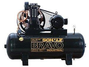COMPRESSOR DE AR SCHULZ - CSL 40BR/250 BRAVO - 40 PES 250 LITROS 175 LIBRAS 220/380V TRIF IP55
