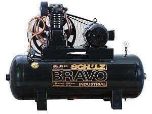 COMPRESSOR DE AR SCHULZ - CSL 40BR/250 BRAVO - 40 PES 250 LITROS 175 LIBRAS 380/660V TRIF IP55