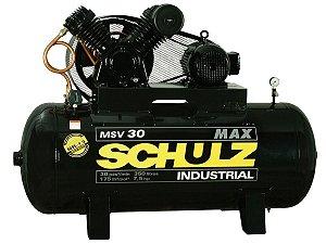 COMPRESSOR DE AR SCHULZ - MSV 30/350 MAX - 30 PES 350 LITROS 175 LIBRAS 220/380V TRIF