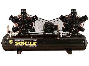 COMPRESSOR DE AR SCHULZ - MSWV 120/460 FORT - 120 PES 460 LITROS 175 LIBRAS CONTINUO 220/380V TRIF (MOTOR BLINDADO)