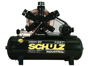 COMPRESSOR DE AR SCHULZ - MSWV 60/425 FORT - 60 PES 425 LITROS 175 LIBRAS 380/660V TRIF (MOTOR ABERTO)