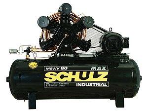 COMPRESSOR DE AR SCHULZ - MSWV 80/425 MAX - 80 PES 425 LITROS 175 LIBRAS  380/660V TRIF