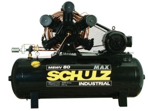 COMPRESSOR DE AR SCHULZ - MSWV 80/425 MAX - 80 PES 425 LITROS 175 LIBRAS 220/380V TRIF