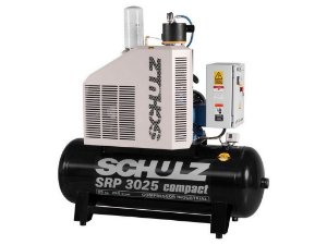 COMPRESSOR DE PARAFUSO SCHULZ SRP 3025 COMPACT 25HP 250 LITROS - 11 BAR