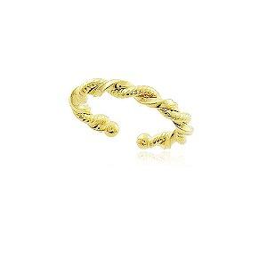 Brinco piercing fio torcido folheado em ouro