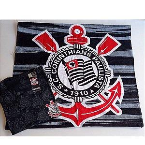 Combo Toalha e camiseta do Corinthians licenciada