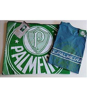 Combo Toalha e camiseta do Palmeiras licenciada