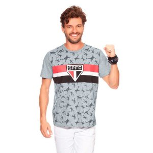 Camiseta São Paulo F.C. Casual Masculina Oficial Promoção