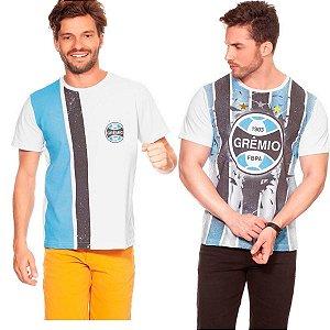 kit 2 Camiseta Grêmio Casual Masculina Oficial Promoção