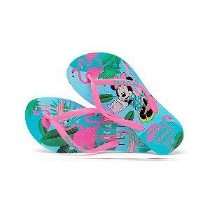 Chinelo Infantil Havaianas Disney Cool Azul/Rosa (9548)
