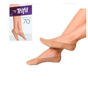 Meia Trifill Sapatilha Invisivel Tamanho Único Fio 70 (WX6974)